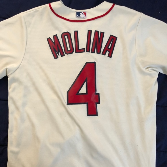 watch d1ee5 45ade St Louis Cardinals Molina Jersey